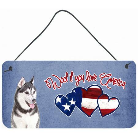 Woof if you love America Alaskan Malamute Wall or Door Hanging Prints