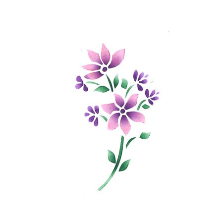 Small Flower Craft Stencil SKU #285 by Designer Stencils