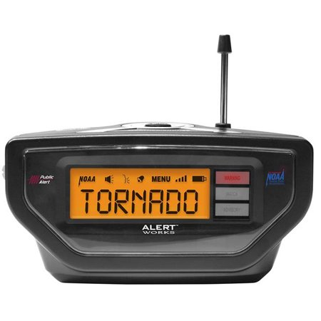 ALERT WORKS Portable/Table Top Weather Radio,NOAA