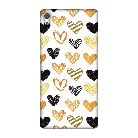 Sony Xperia XA Case, Premium Handcrafted Designer Hard Shell Snap On Case Printed Back Cover with Screen Cleaning Kit for Sony Xperia XA, Slim, Protective - I Heart Hearts