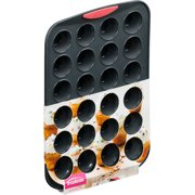 Trudeau Maison Silicone Mini Muffin Pan Gray/Coral-24 Cavity