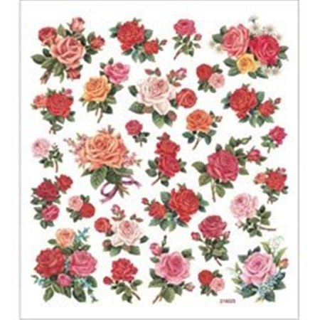 Classic Rose Multi-Colored Stickers - image 1 of 1