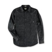 AMBIG Mens The Silas LS Button Up Shirt, blue, Medium