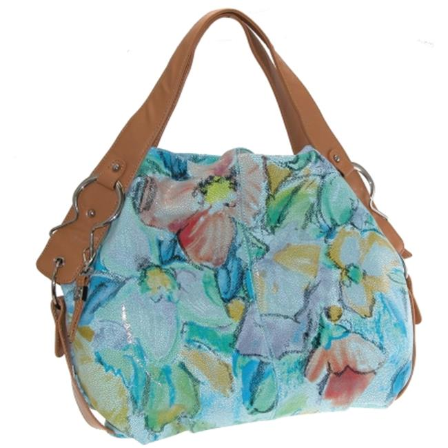 Buxton FDL11018.BL.BX Heather Collection Leather Hobo - Blue