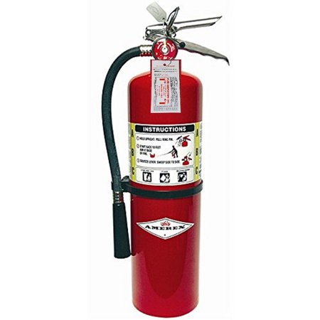 (Lot of 1) Amerex 10 Lb. Type ABC Dry Chemical Fire Extinguishers, with  Certified Tag, Ready For Fire Inspections/Wall Mounts
