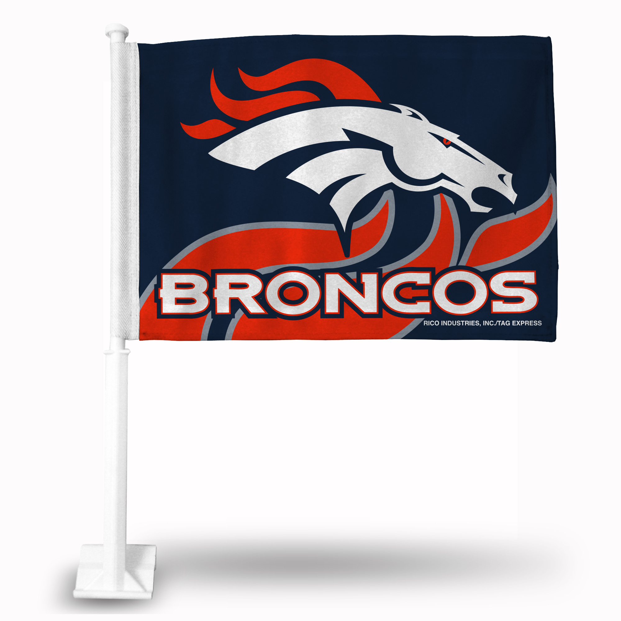 Rico Car Flag - NFL Denver Broncos