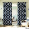 Aurora Home Moroccan Tile 96 Inch Window Curtain Panel Pair Navy