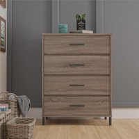 Better Homes & Gardens Contemporary 4 Drawer Dresser, Weathered Oak