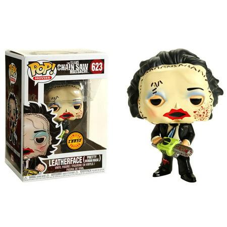 The Texas Chainsaw Massacre Funko POP! Movies Leatherface Vinyl Figure [Pretty Woman Mask, blood splatter] - Leatherface Masks