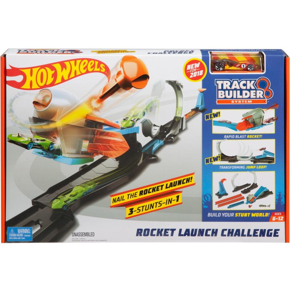 Hot Wheels Track Builder Rocket Launch Challenge Playset
