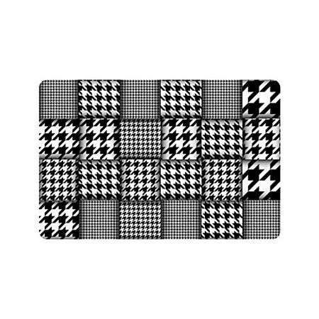 YUSDECOR Black White Houndstooth Patchwork Style Doormat Rug Home Decor Floor Mat Bath Mat 23.6x15.7 inch - image 1 de 3