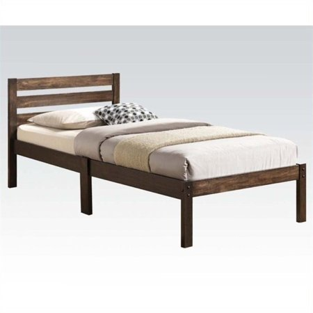 Ash Modern Bed - Pemberly Row Twin Platform Bed in Ash Brown