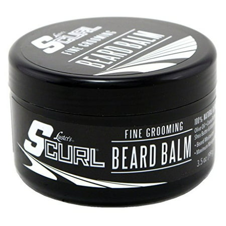 Lusters Scurl 100% Natural Fine Grooming Beard Balm For Beard Moisturizer, 3.5 (Best Way To Moisturize Beard)