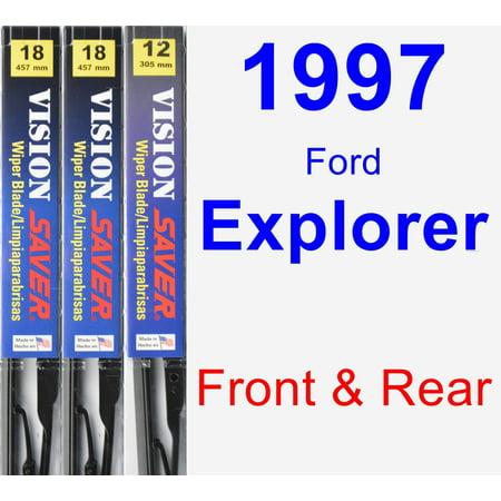 1997 Ford Explorer Wiper Blade Set/Kit (Front & Rear) (3 Blades) - Vision Saver