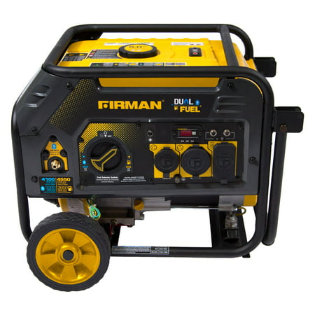 Firman H03652 4550/3650 Watt Dual Fuel Recoil Start Generator, cETL, CARB