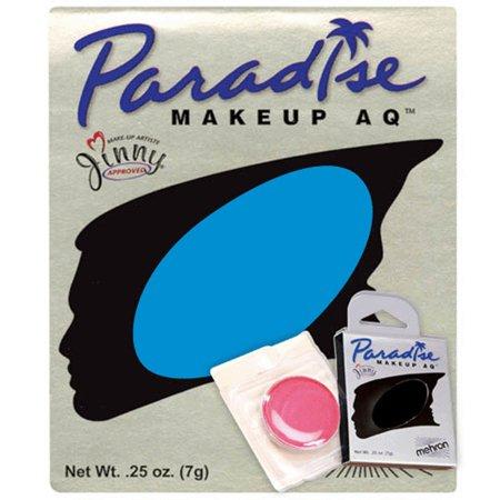 Mehron Paradise AQ Professional Single Refill .25oz (7g) Cake Makeup, Sky Blue](Purple And Blue Halloween Makeup)