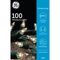 GE 100CT String-A-Long Miniature Christmas Light String Set - Clear