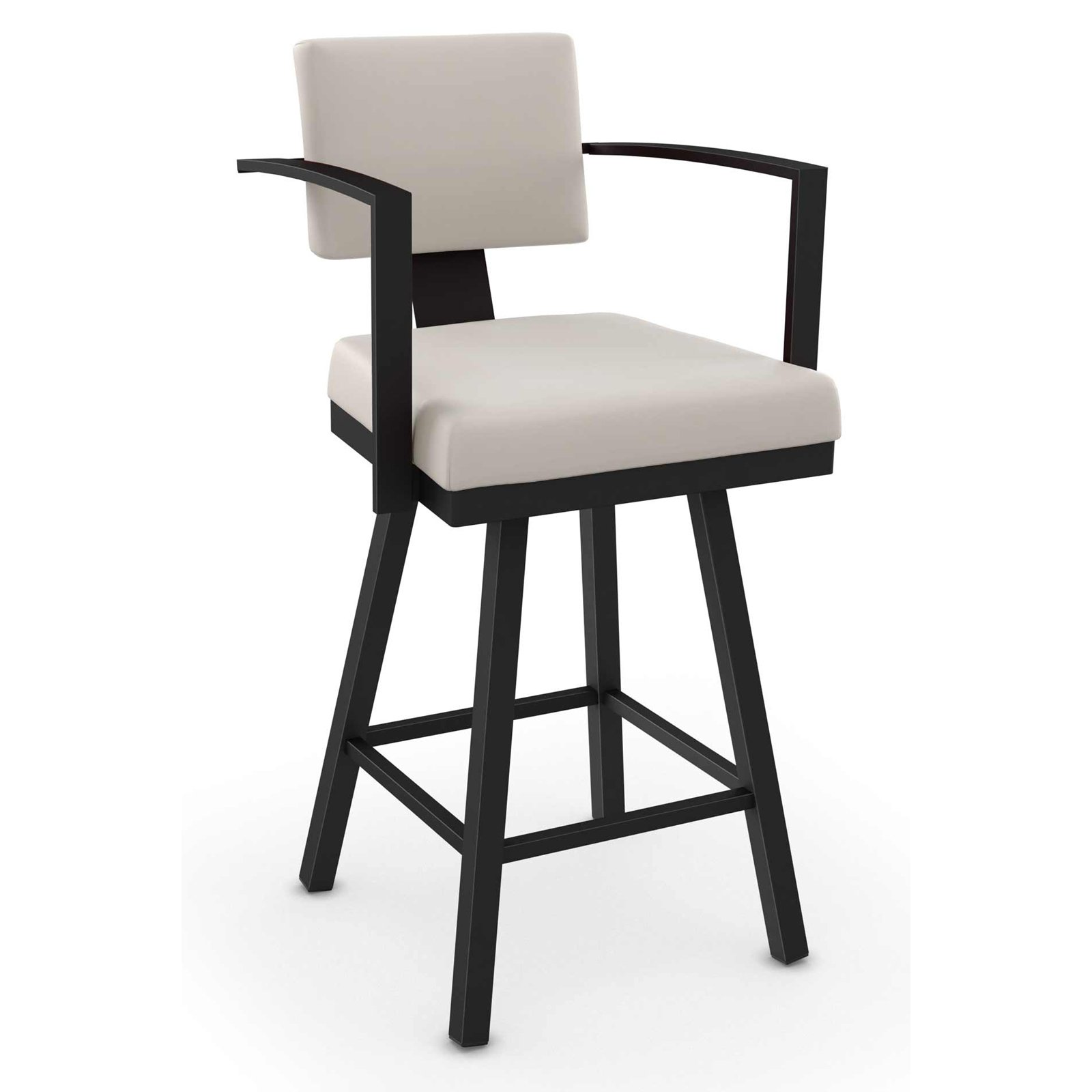 Amisco Akers Swivel Bar Stool with Arms 30 in.