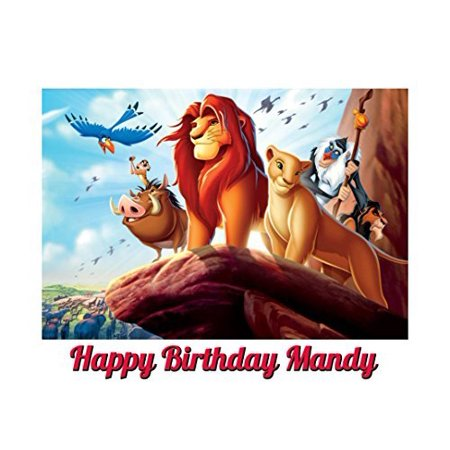 Lion King Image Photo Cake Topper Sheet Personalized Custom Customized Birthday Party - 1/4 Sheet - 79964](Food Lion Cake Prices)
