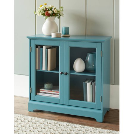 Better Homes and Gardens Savannah 2 Door Cabinet, Teal