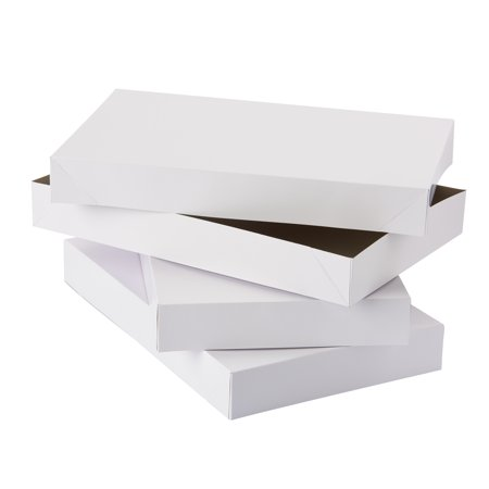 American Greetings Medium White Shirt Gift Boxes, (White Heart Gift Box)