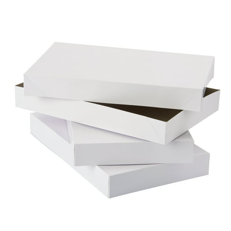 American Greetings Medium White Shirt Gift Boxes, 3ct