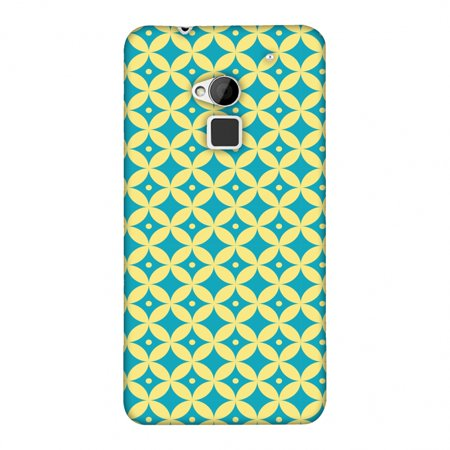 HTC One Max Case, Premium Handcrafted Designer Hard Shell Snap On Case Printed Back Cover with Screen Cleaning Kit for HTC One Max, Slim, Protective - Overlapped Circles (Circle Designs Snap)