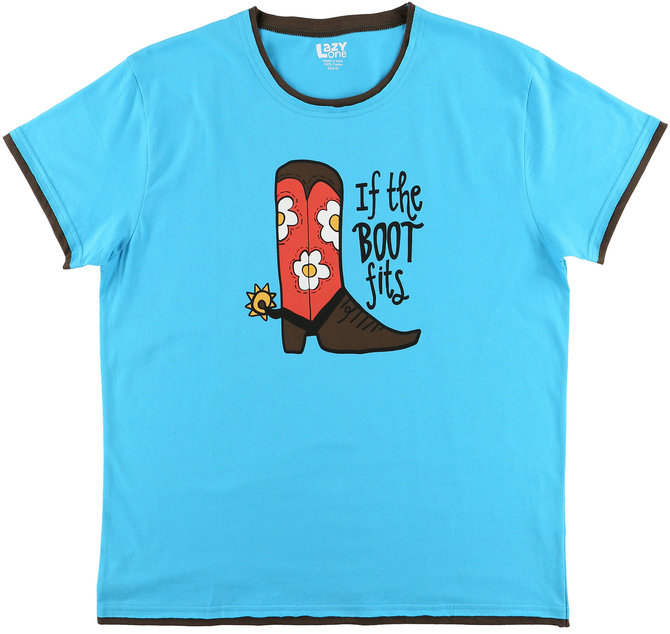 LazyOne Womens If The Boot Fits PJ T Shirt Adult