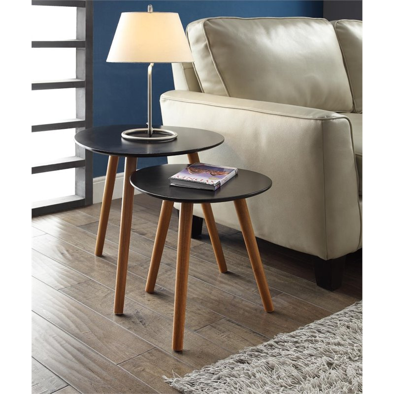 Pemberly Row 2 Piece Nesting Table Set in Black - image 2 de 3