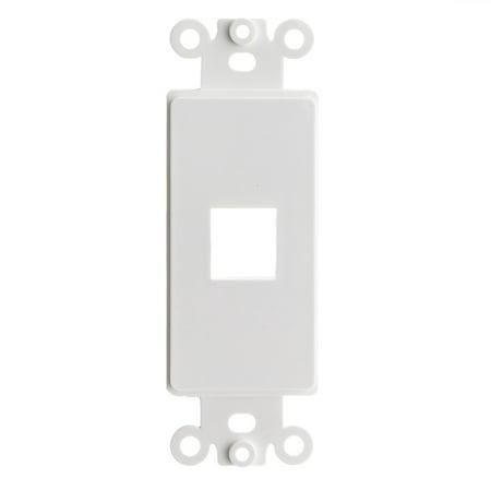 ACCL Decora 1 Keystone Jack, Single Gang Wall Plate Insert, White, - Insert Wall Plates 1 Jack