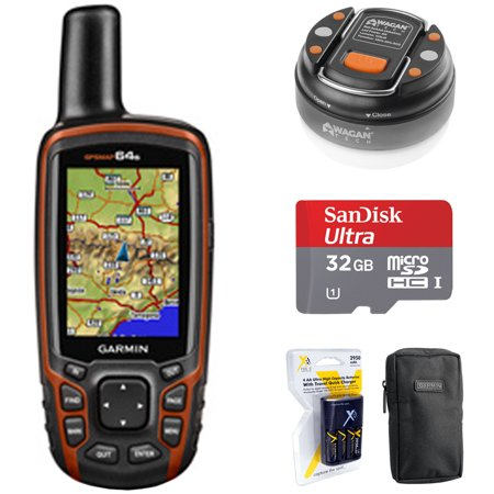 Garmin GPSMAP 64s Worldwide Handheld GPS with 1 Year BirdsEye Subscription (010-01199-10) + 32GB Memory Card + LED Brite-Nite Dome Lantern Flashlight + Carrying Case + 4x AA Batteries w/ Charger](garmin gpsmap 4012 12 inch waterproof marine gps and chartplotter)