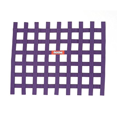 RIBBON STYLE RACE CAR WINDOW NET; PURPLE 18 H X 24 W
