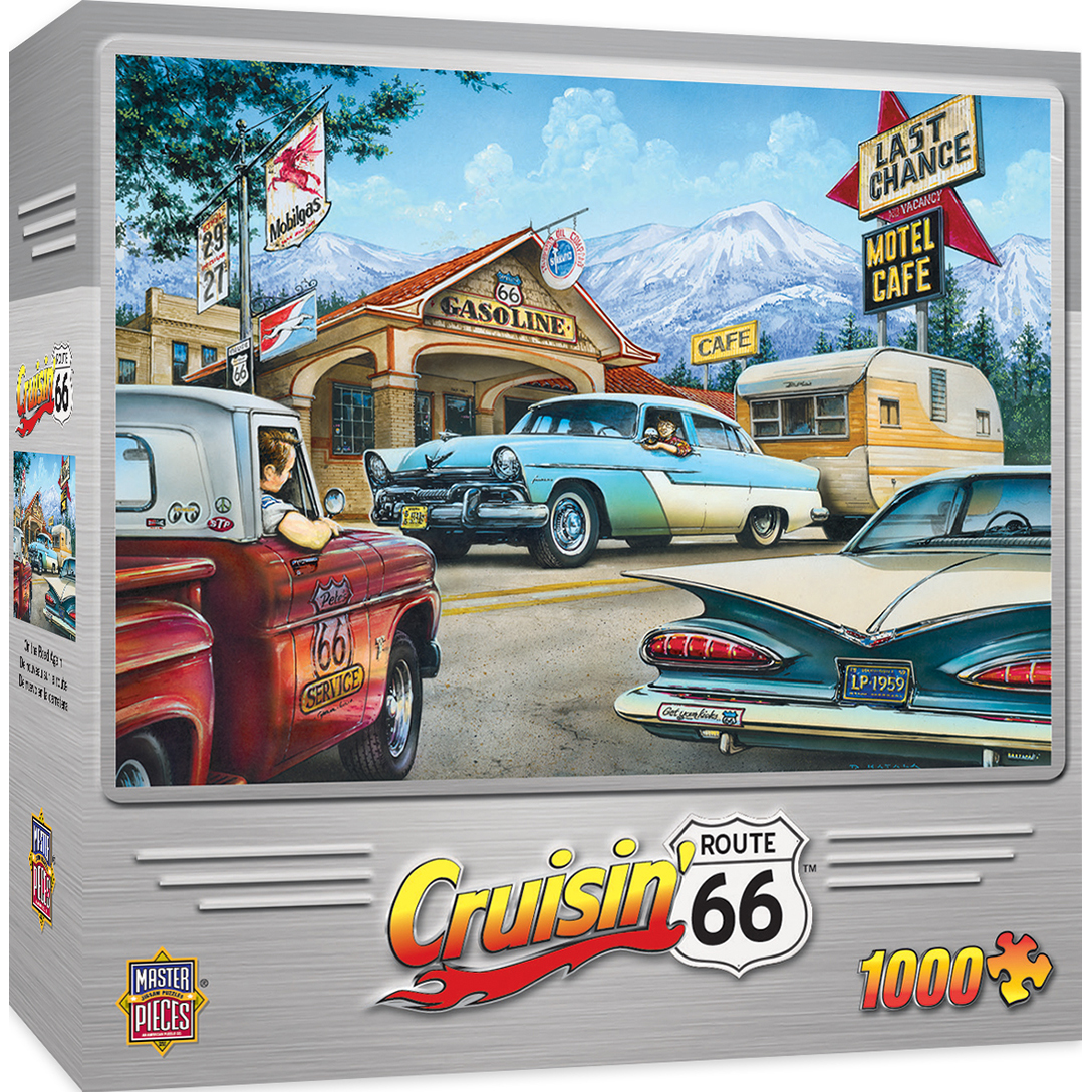 Cruisin' Route 66 On the Road Again 1000 Piece Jigsaw Puzzle by MasterPieces