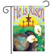 "He Is Risen Easter Garden Flag Religious Jesus 12.5"" x 18"" Briarwood Lane"