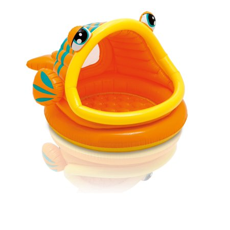 Intex Sun & Shade Inflatable Lazy Fish Baby Swimming Splash Pool | 57109EP