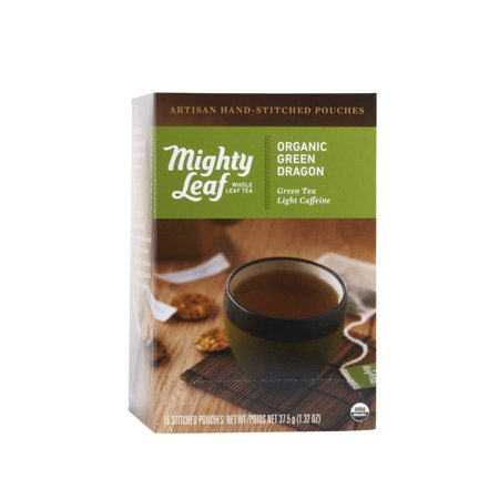 Mighty Leaf, Organic Green Dragon Stitched Tea Bags, 15 ct ()