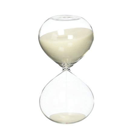 6 Inch Puff Sand Timer Hourgl 30 Minutes Creamy White Color Inspired Gl Home Desk Office Decor