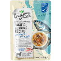 Purina Beyond Natural, High Protein, Grain Free Wet Cat Food Complement, Pacific Herring Recipe - (16) 1.4 oz. Pouches