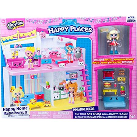 Shopkins tm happy places house playset miniature decor for Decoration maison walmart