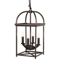Best Choice Products 4-Light Hanging Ceiling Lantern Chandelier for Home, Kitchen, Foyer - Bronze