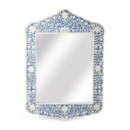 Butler Small Floral Bone Inlay Wall (Bone Mirror)
