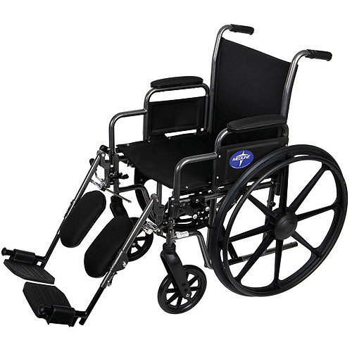 Medline K1 Basic Extra-Wide Wheelchairs with Elevating Legrests