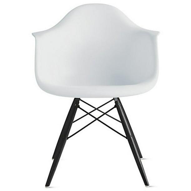 Eames Style Armchair Black Wood Legs