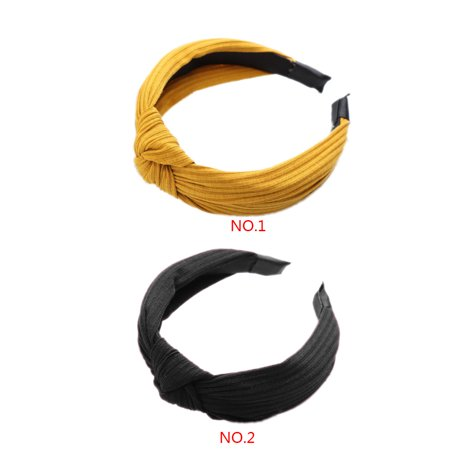 Boyijia Women Lady Bow Hair Hoop Girl Solid Color Soft Knotted Cloth Headband Hairband Head Decoration - image 7 of 8