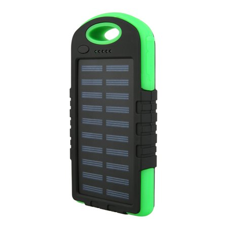 10000mAh Portable Charger Battery Charging Device Solar Power Bank for Xiaomi iPhone X LED Lighting for Outdoor Travel