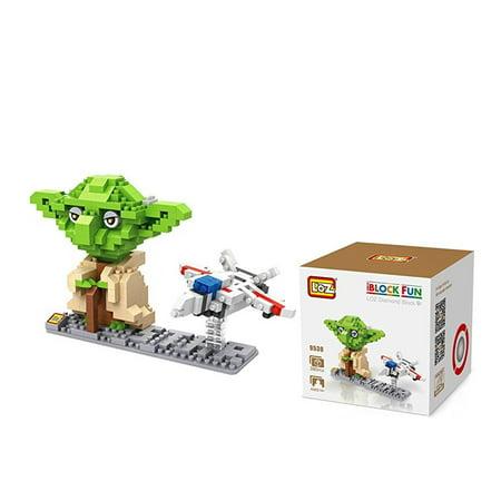 LOZ Diamond Star Wars Yoda and Fighter Nano-Block - 2 in Pack (Diamond Star Corp)