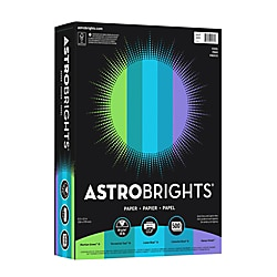 Bright Color Paper, Neenah Astrobrights®, Letter Paper Size, 24 Lb, Assorted Colors, Ream Of 500 Sheets