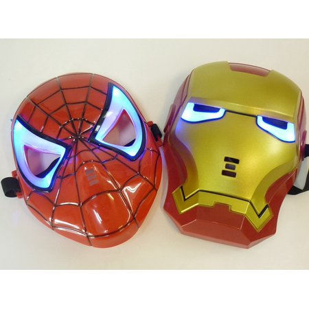 Eye shines! Iron Man style mask mask masquerade party LED set! ! (japan import), It is the mask of Spider-Man and Iron Man wind. By Spider-Man