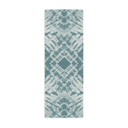 Oak and Reed 4MM Printed Yoga Mat, Shibori Diamond](White Toga)