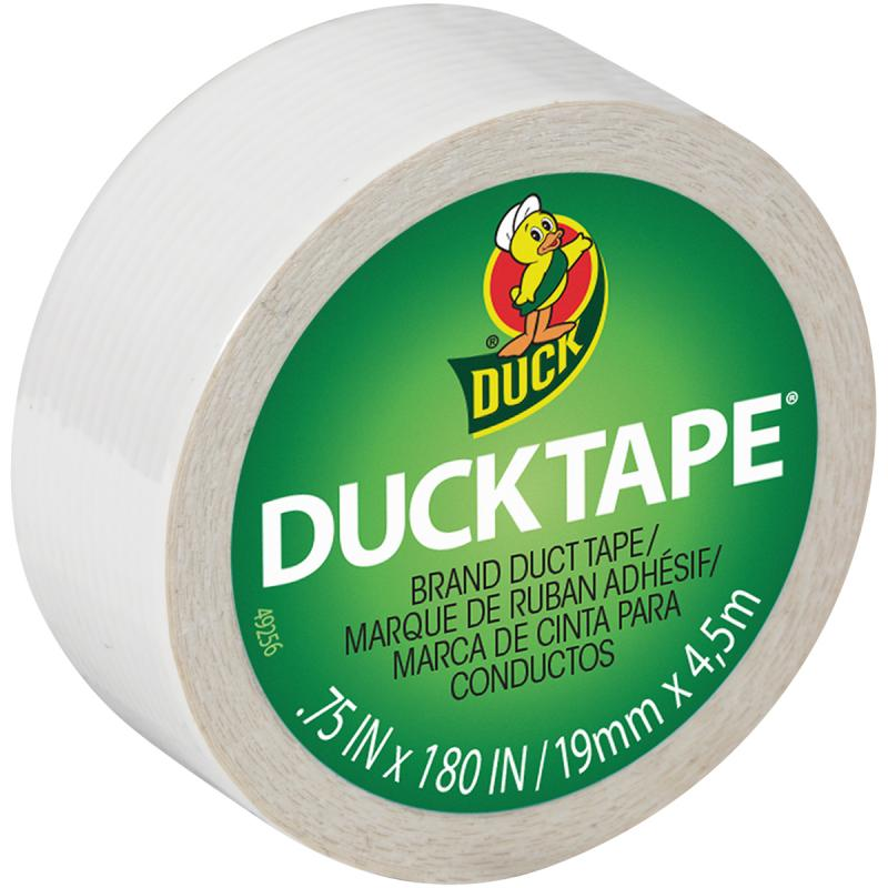 "Mini Duck Tape .75""X15'-White"